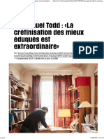 Emmanuel Todd_ «La Crétinisation Des Mieux Éduqués Est Extraordinaire» - Libération