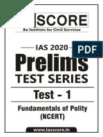 Gs score syllabus