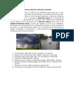 Diferencia Entre Fenómenos Naturales y Desastres Naturales