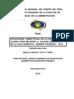 Tesis Estrategias Competitivas en La Atencion Al Cliente Para Mejorar La Calidad de Servicio de La Caja Huancayo Agencia Pichanaki – 2014
