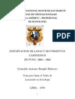 Exportación de lanas y movimientos campesinos en Puno 1895-1925