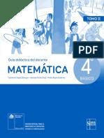 Matemática 4º Básico - Guía Didáctica Del Docente Tomo 2