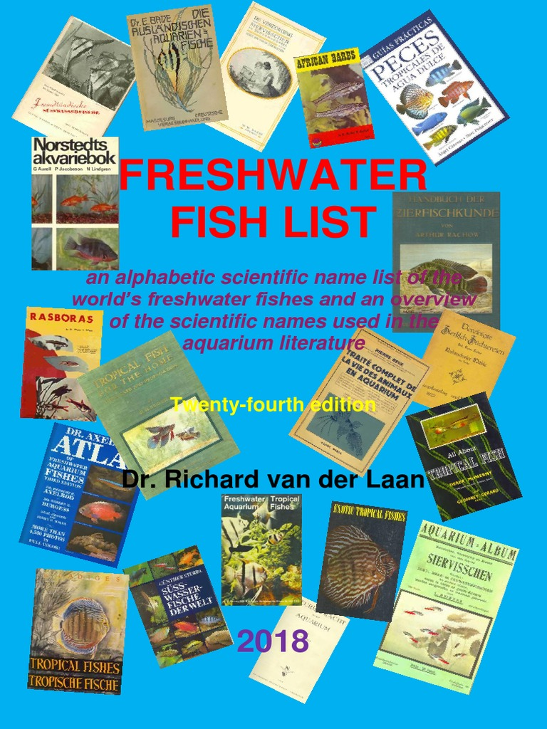 The Fresh Water Fish List 2018 Phylogenetic Tree