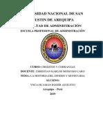 Hisotoria Del Dinero y Monetaria