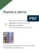 Puesta a Tierra - Wikipedia, La Enciclopedia Libre