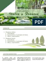 PAISAJISMO EN ITALIA Y FRANCIA
