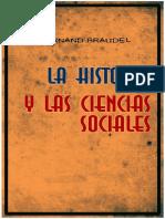 Braudel, Fernand. - La Historia y las Ciencias Sociales [1970].pdf