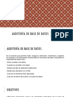 Auditoria de Base de Datos