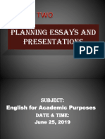 EngleAPP Planning Essays and Presentations