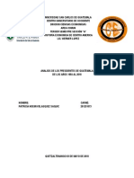 Analisis de Los Presidentes de Guatemala de 1954 Al 2018