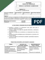 13. Modulo Nutrición y Alimentacion - Poli