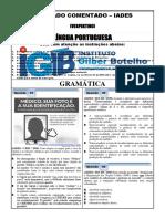 Simulado de Língua Portuguesa - Gramática - Igb - Iades 2