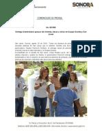 20-08-19 Entrega Gobernadora apoyos de vivienda, becas y obras en Suaqui Grande y San Javier