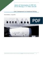 Dinesh B Analytical Writing Assignment - Boeing 737 Max Crash