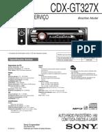 Manual Sony Xplod CDX-GT327X+(BR)
