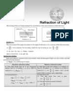 Refraction of Light for NTSE