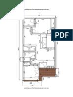 Plano de Casa de 6x12 Metros Con 2 Dormitorios