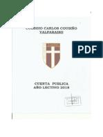 Cuenta pública colegio Carlos cousiño