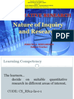Nature of Inquiry and Research Design 1