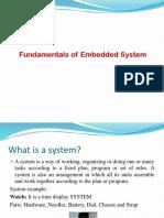1) Fundamentals of Embedded System