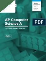 AP Computer Science a Course and Exam Description