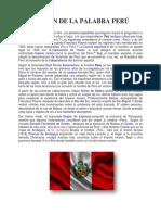 Origen de La Palabra Perú (Linares)