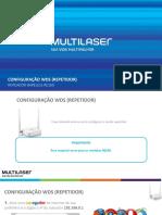 7 Configuração WDS (Repetidor) RE160