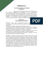 Reglamento Interno de Trabajo Cimbrados s.a. 2012 Actualizado Nov 2012