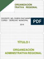 La Organizacion Administrativa Regional 2019