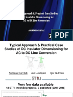 TYPICAL APPROACH & PRACTICAL CASE STUDIES OF DC INSULATOR DIMENSIONING FOR AC TO DC LINE CONVERSION