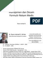 Manajemen Dan Desain Formulir RM - Modul