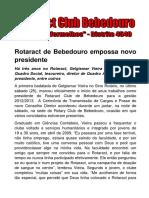 Posse Rotaract Bebedouro - Presidente Gel - Ago2012