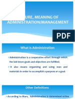 Nature and Meaning of Administration