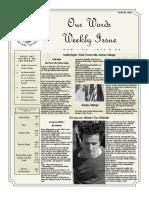 Newsletter Volume 10 Issue 30