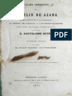 Viajes Ineditos de D. Felix de Azara Ver Itá Arruay
