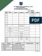 Horario Octavo Semestre Programa Ingeniería Electrónica 2P-2019