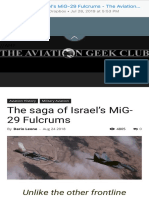 The Saga of Israel's MIG-29 Fulcrums