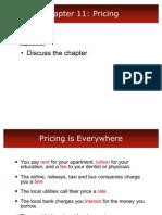 Mktg Ch11 Pricing