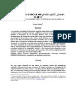 Desarrollo Endogeno, Para Que y Para Quien (Sergio Boisier)