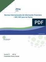 NIIF PARA PYMES -Seccion 17 Propiedades Planta y Equipo