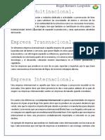 Artículos de Empresas Multinacionales, Internacionales