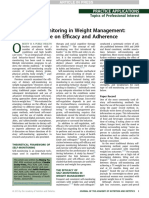 Dietary Self Monitoring in Weight Management