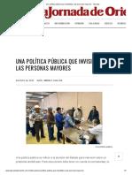 Una Política Pública Que Invisibiliza a Las Personas Mayores