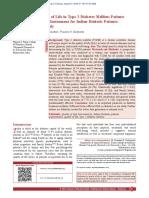 D Quality of Life in Type 2 Diabetes Mellitus Patients