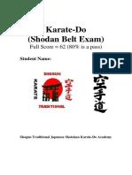 Shodan Exam Paper