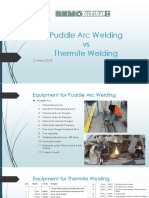Puddle Arc vs Thermite Welding
