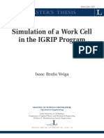 Simulation of work cell in the IGRIP Program