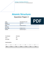 A Level Atomic Structure 2