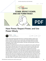 Ray Dalio Have Power, Respect Power, and Use Power Wisely