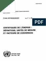 Definitions Unites de Mesures Facteur de Conversion